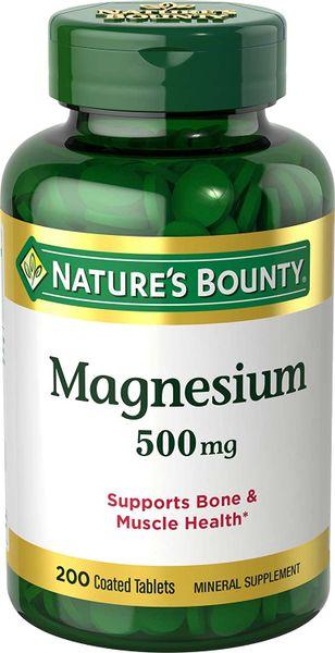 Viên Uống Nature's Bounty Magnesium 500mg