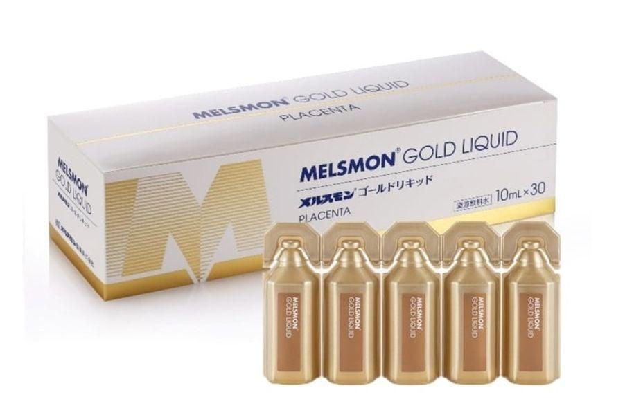 Nước Uống Nhau Thai Heo Melsmon Gold Liquid Của Nhật
