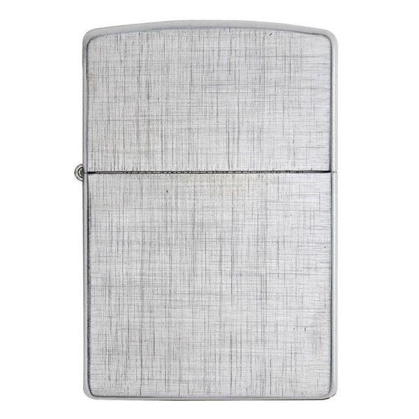 Zippo Linen Weave 28181 Mạ Chrome Vân Xước