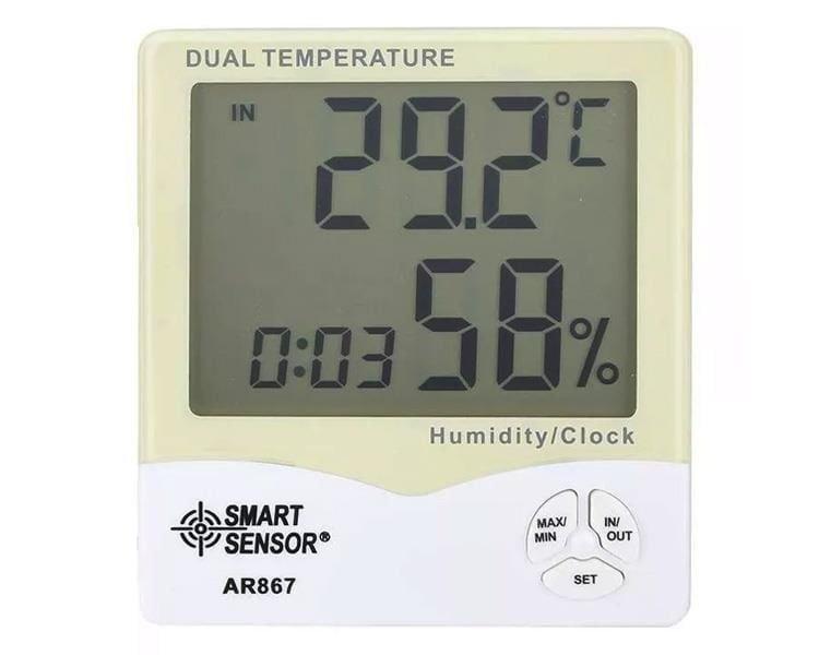 Nhiệt Ẩm Kế Điện Tử Smart Sensor AR867 Màn Hình LCD
