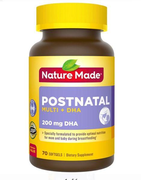 Nature Made Postnatal Multi DHA Cho Phụ Nữ Cho Con Bú Mẫu Mới