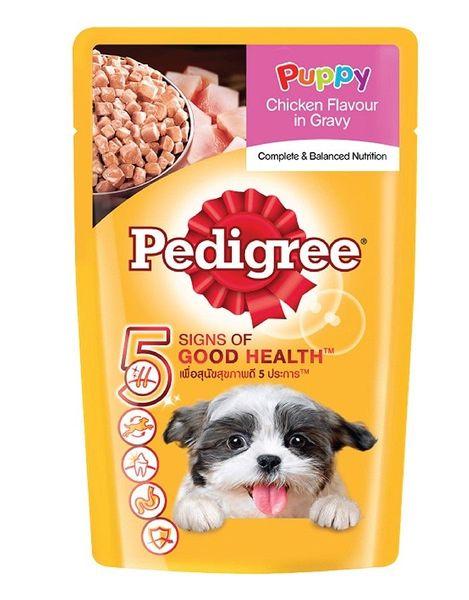 Thức Ăn Chó Con Pedigree Vị Gà Nấu Sốt 130g