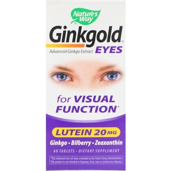 Viên Uống Hỗ Trợ Thị Lực Nature's Way Ginkgold Eyes Lutein 20mg