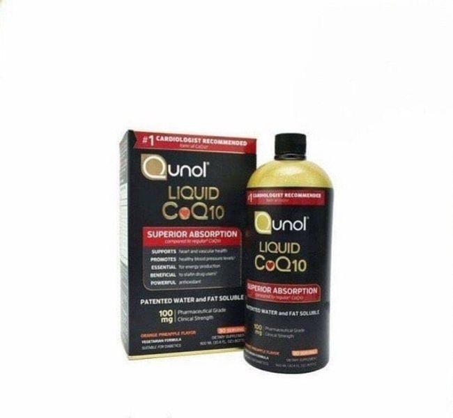 Qunol Liquid Superior Absorption CoQ10 Hỗ Trợ Tim Mạch Dạng Nước