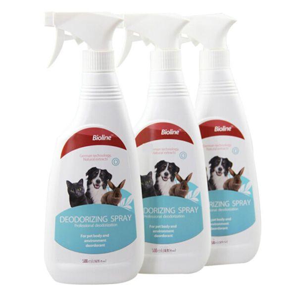 Xịt Khử Mùi Bioline Deodorizing Spray Cho Chó Mèo