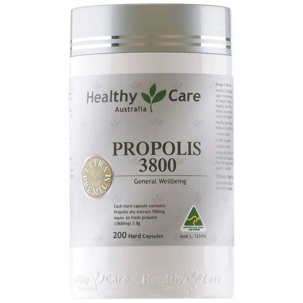 Keo Ong Hỗ Trợ Tăng Đề Kháng Healthy Care Propolis 3800mg