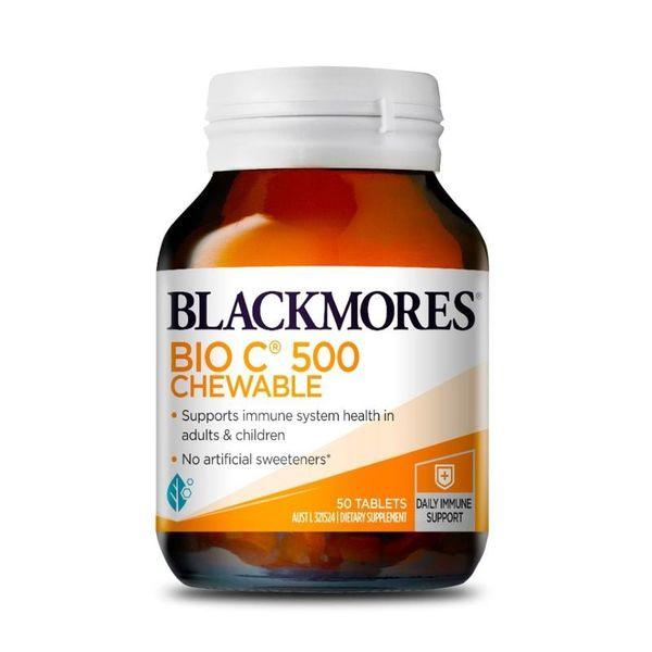 Viên Hỗ Trợ Bổ Sung Vitamin C Blackmores Bio C 500mg Dạng Nhai