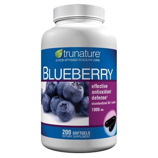 Viên Uống Hỗ Trợ Não Bộ Trunature Blueberry Extract 1000mg