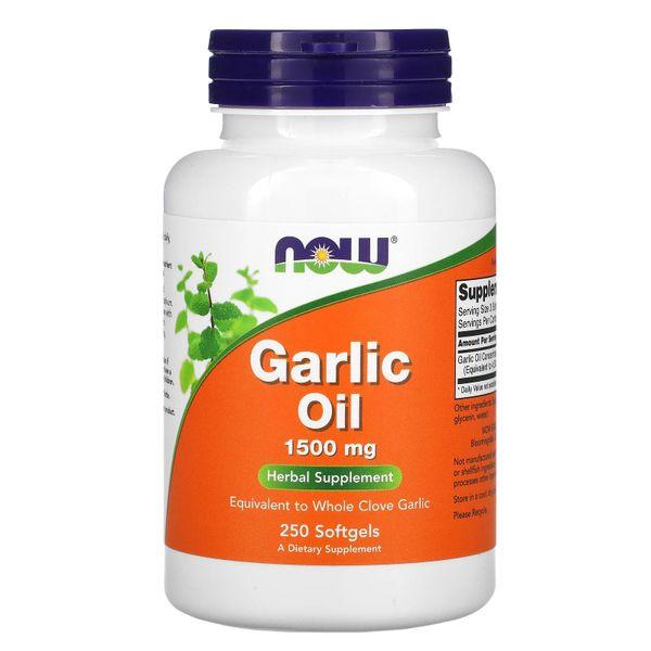 Tinh Dầu Tỏi Now Supplements Garlic Oil 1500mg 250 Viên