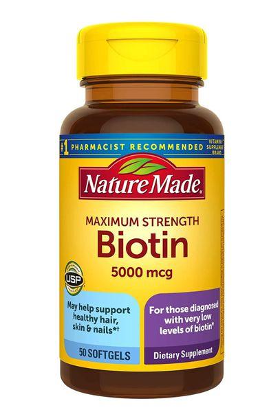 Viên Uống Hỗ Trợ Mọc Tóc Nature Made Biotin 5000mcg