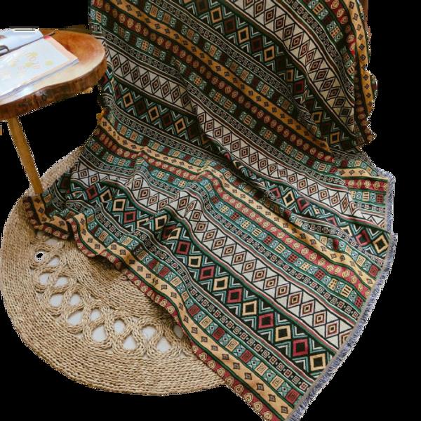 Thảm Thổ Cẩm Trang Trí Nhà Theo Phong Cách Vintage