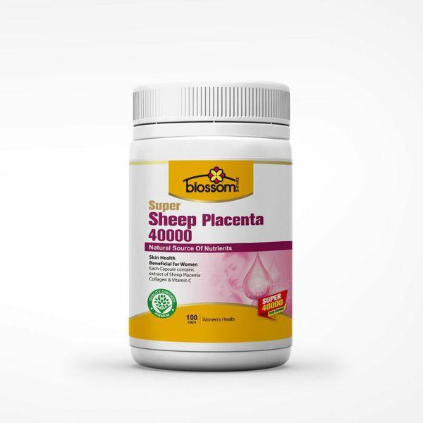 Viên Uống Nhau Thai Cừu Thế Hệ Mới Blossom Super Sheep Placenta Mẫu Mới