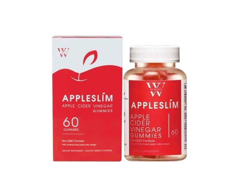 Kẹo Giấm Táo Appleslim Hỗ Trợ Giảm Cân Giữ Dáng, Đẹp Da Của Mỹ