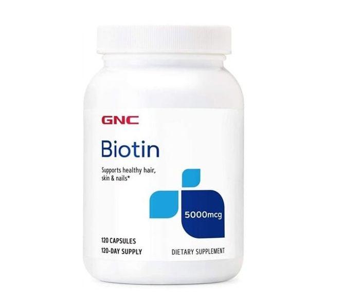 Viên Uống Hỗ Trợ Mọc Tóc GNC Biotin 5000mcg