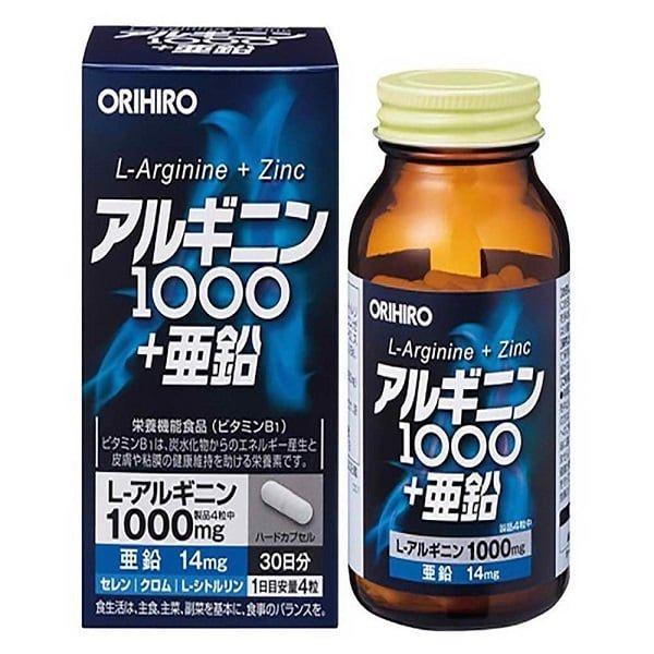 Viên Uống Orihiro L-Arginine 1000mg Và Zinc