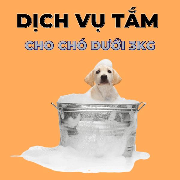 Voucher Dịch Vụ Tắm Cho Chó Dưới 3kg Chuyên Nghiệp