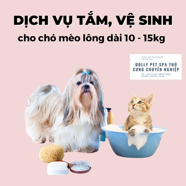 Voucher Tắm Vệ Sinh Trọn Gói Cho Chó Mèo Lông Dài 10 Tới 15kg