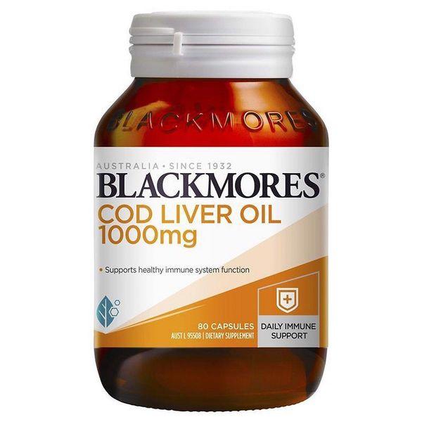 Viên Uống Dầu Gan Cá Tuyết Blackmores Cod Liver Oil 1000mg