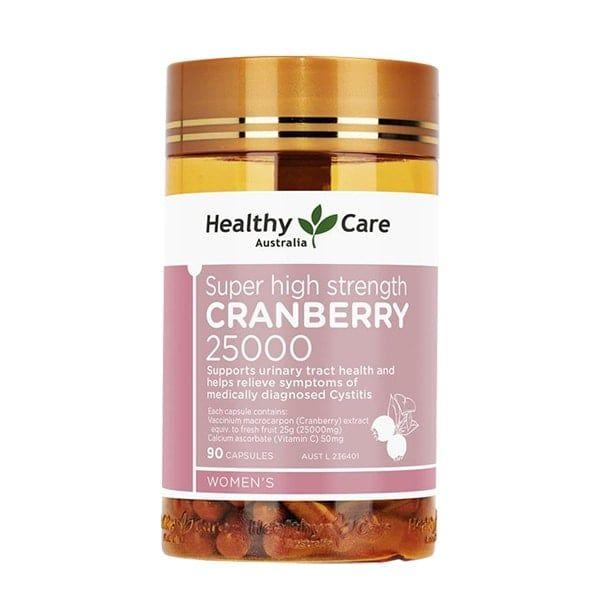 Viên Uống Hỗ Trợ Đường Tiết Niệu Healthy Care Cranberry 25000mg