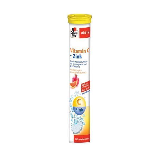 Viên Sủi Doppelherz Vitamin C+Zinc Hỗ Trợ Tăng Đề Kháng