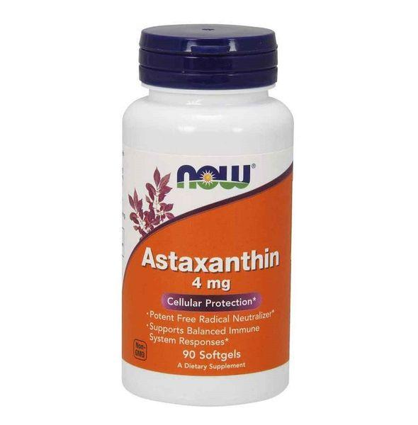 Viên Uống Hỗ Trợ Bảo Vệ Tế Bào NOW Astaxanthin 4mg Cellular