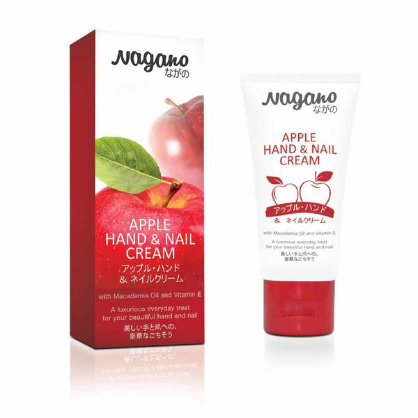 Kem Dưỡng Da Tay Và Móng Hương Táo Apple Hand & Nail Cream Nagano 60ml