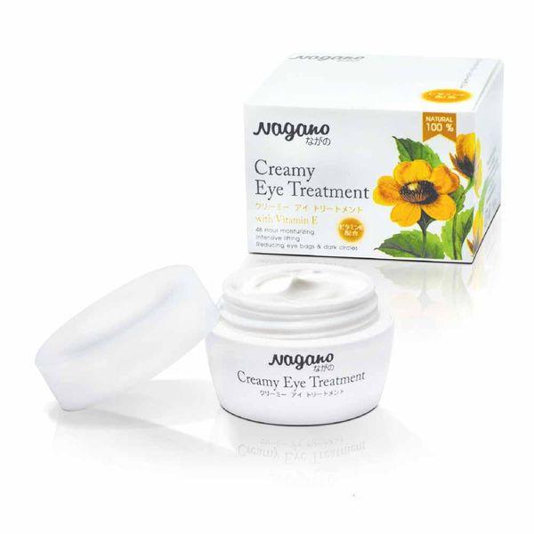 Kem Dưỡng Da Vùng Mắt Vitamin E Nagano 15g - Creamy Eye Treatment Nagano 15g