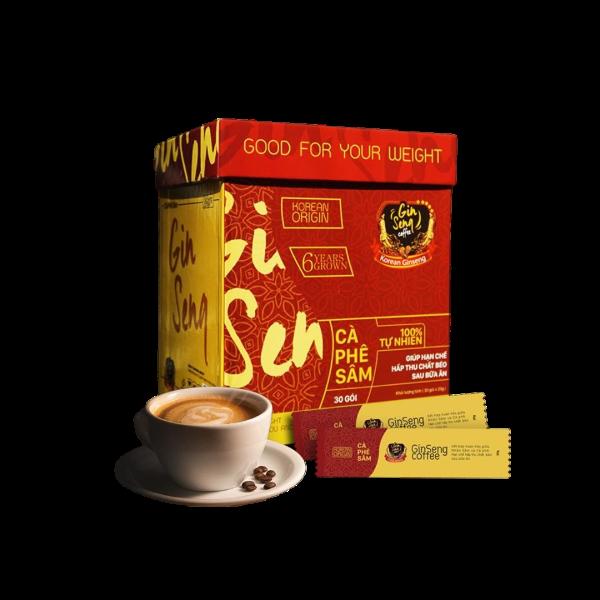 Cà Phê Sâm Ginseng Coffee - Hỗ Trợ Hạn Chế Hấp Thu Chất Béo Sau Bữa Ăn
