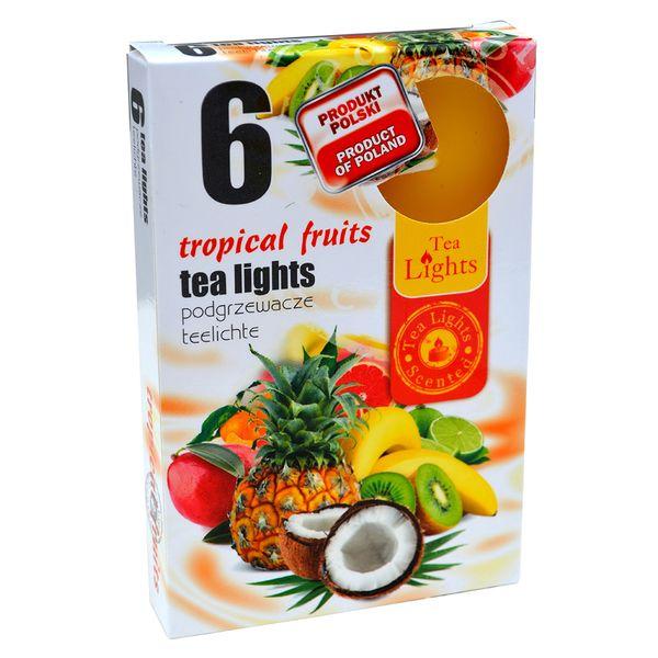 Hộp 6 Nến Thơm Tinh Dầu Tealight QT026055 Trái Cây Nhiệt Đới