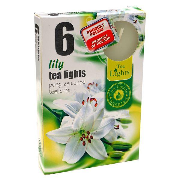 Hộp 6 Nến Thơm Tinh Dầu Tealight QQT026078 Hương Hoa Ly