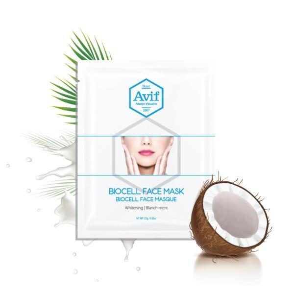 Mặt Nạ Trắng Da Nước Dừa Tươi Avif Biocell Face Mask
