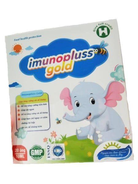 Siro Imunopluss Gold Hỗ Trợ Ăn Ngon Tăng Sức Đề Kháng Hộp 20 Ống
