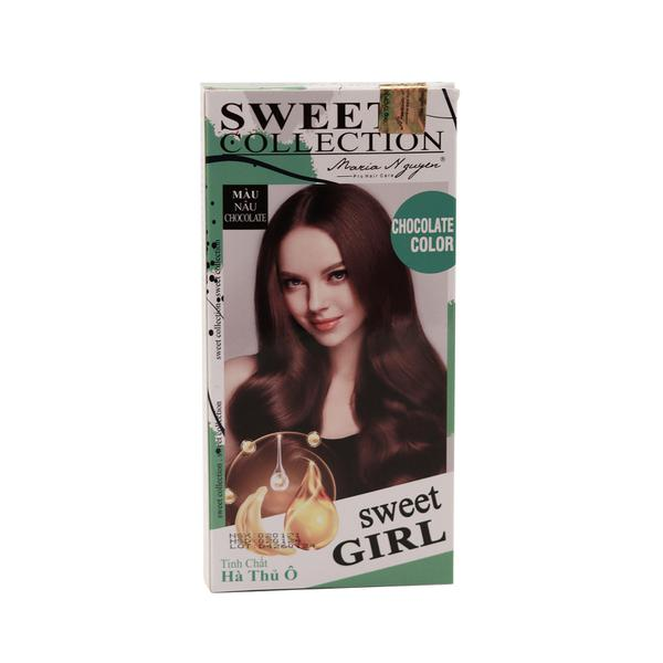 Kem Nhuộm Tóc Maria Nguyễn Tinh Chất Hà Thủ Ô  Màu Nâu Chocolate