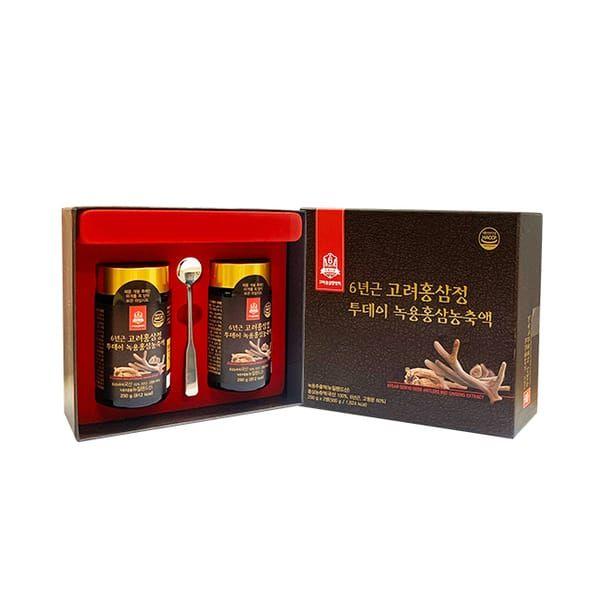 Cao Hồng Sâm Nhung Hươu Goryo Deer Antlers Red Ginseng  2 Lọ X 250g