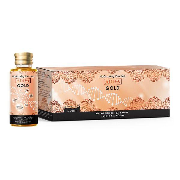 Nước Uống Hỗ Trợ Làm Đẹp Collagen Gold  ADIVA 14 Lọ X 30ml