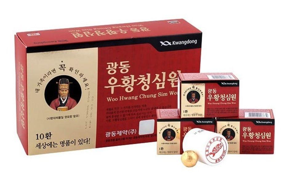 An Cung Hàn Quốc Vũ Hoàng Thanh Tâm Dạng Viên Hoàn Hộp Đỏ 10 Viên Hoàn