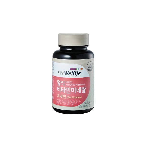 Vitamin Và Khoáng Chất Dành Cho Nữ Wellife Hàn Quốc Hộp 60 Viên