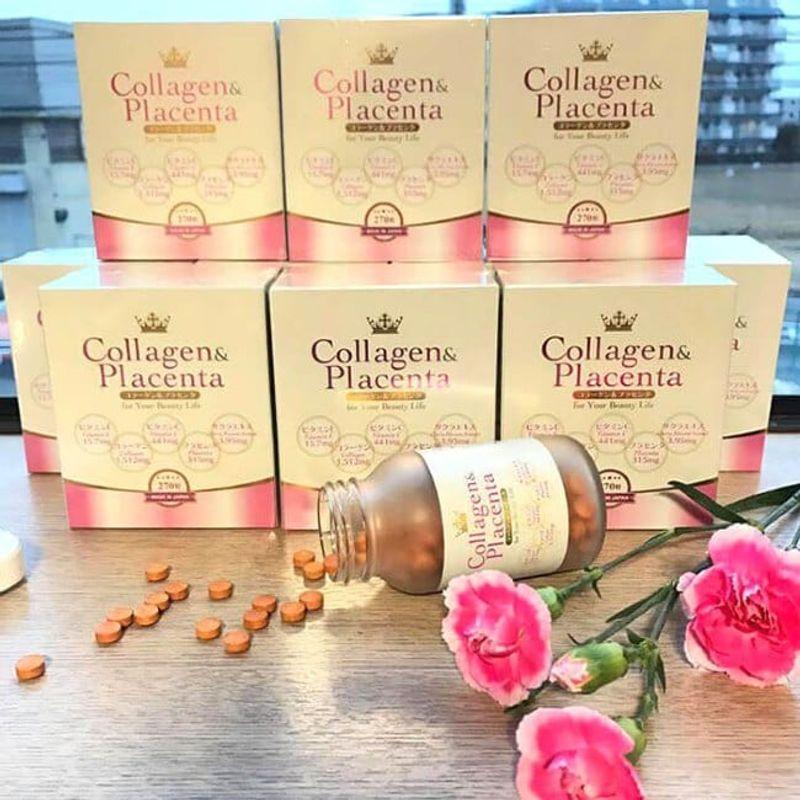 REVIEW Viên Uống Collagen Placenta Nhật Bản - Hỗ Trợ Điều Trị Tàn Nhang, Làm Trắng Da