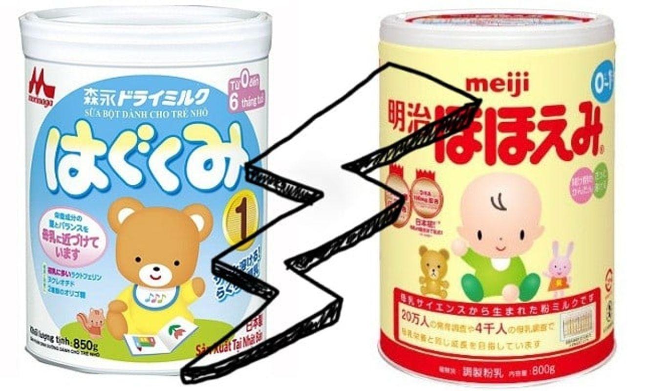 [GÓC SỮA NHẬT] So Sánh Sữa Meiji Và Morinaga - Đâu Là Sữa Công Thức Mẹ Nên Lựa Chọn Cho Bé ?