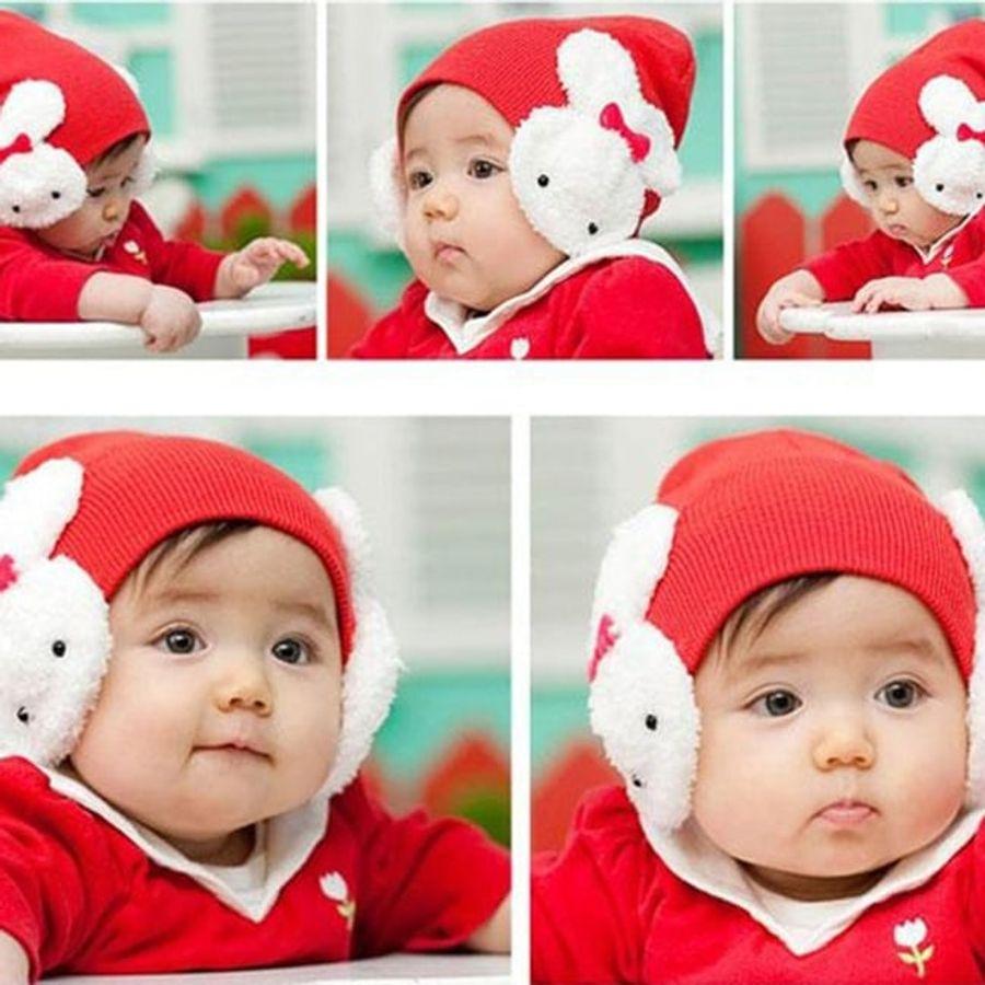 Mũ Len Cho Bé Hình Tai Thỏ