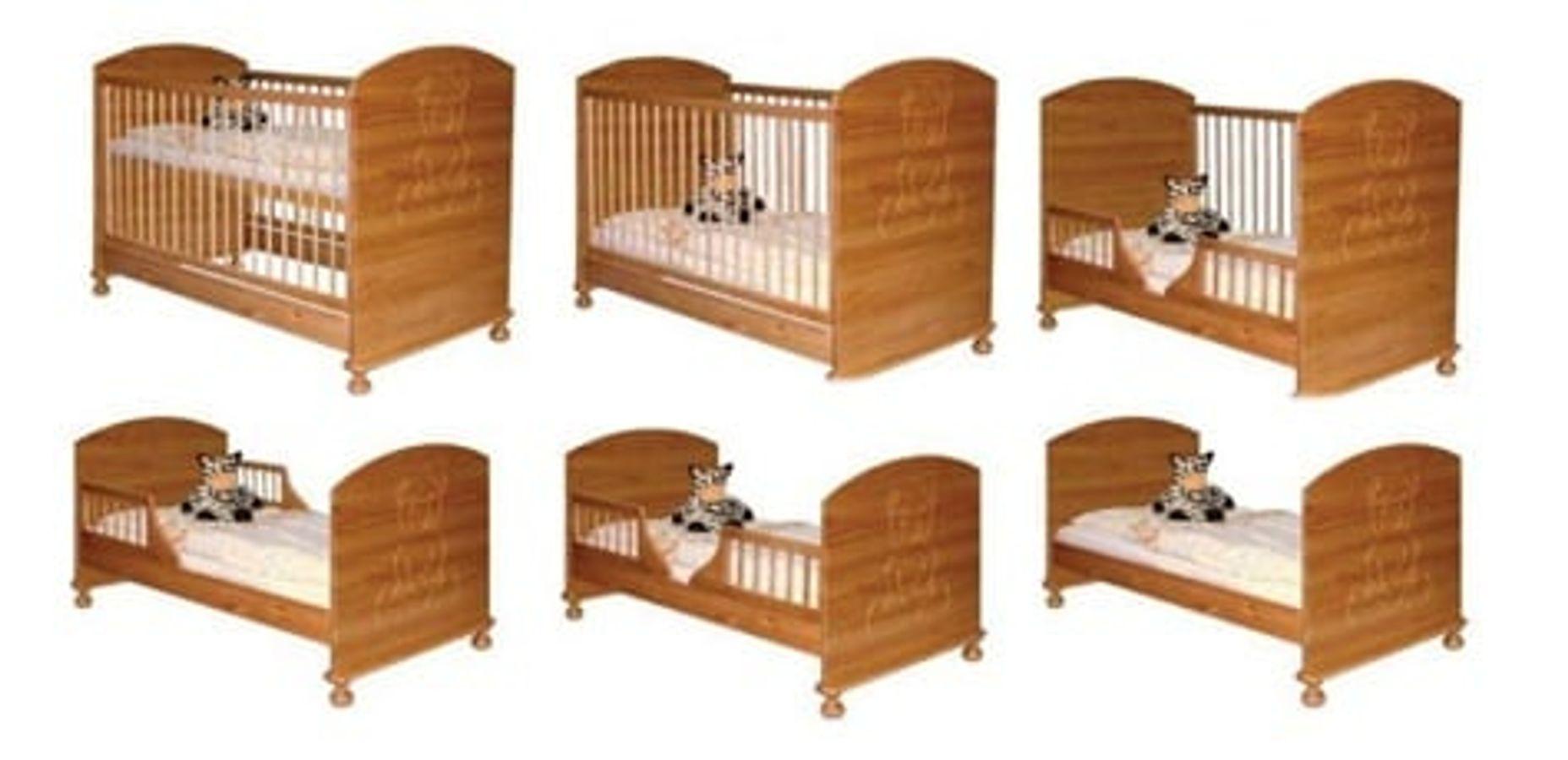 Giường Cũi Teddy 9 Trong 1 Đa Chức Năng (Màu Gỗ)