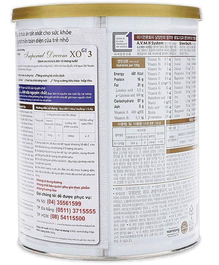 Sữa XO Số 3 Cho Trẻ Từ 6- 12 Tháng