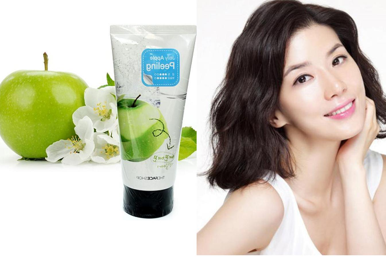 Tẩy Da Chết The Face Shop Táo Xanh Jelly Apple Peeling