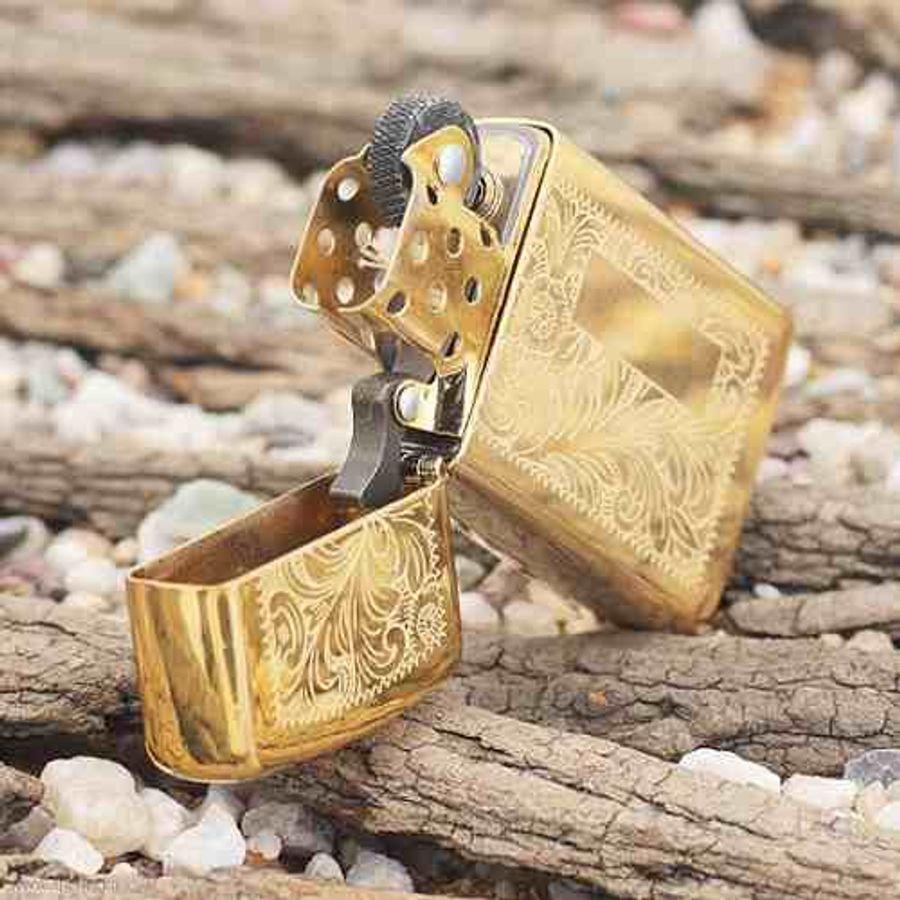 Bật Lửa Zippo 1652B Venetian Slim Brass