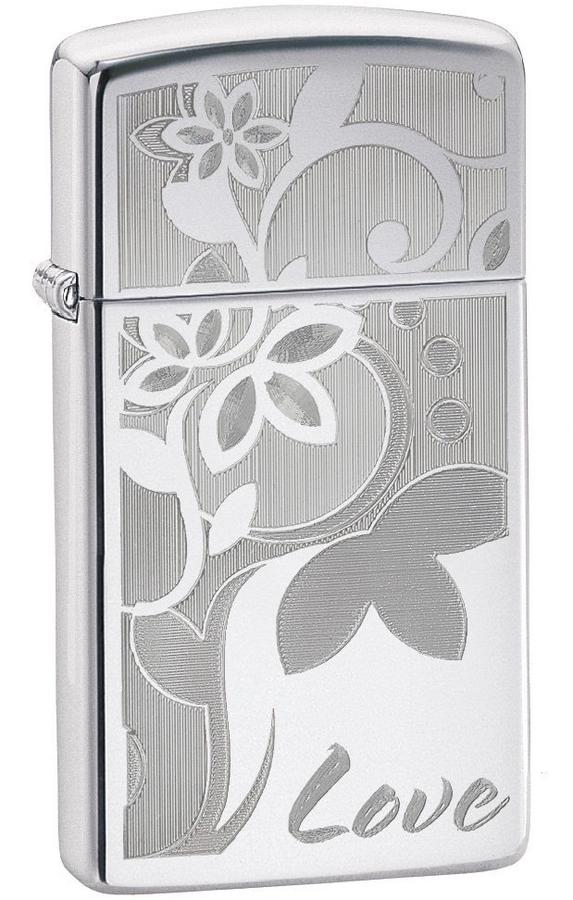 Bật Lửa Zippo 24816 Slim Flowers Lighter