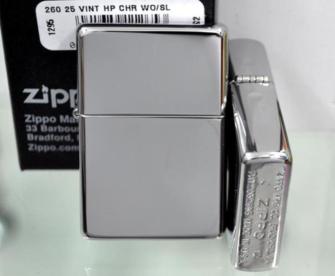 Bật Lửa Zippo Vintage High Polished Chrome Lighter 260.25