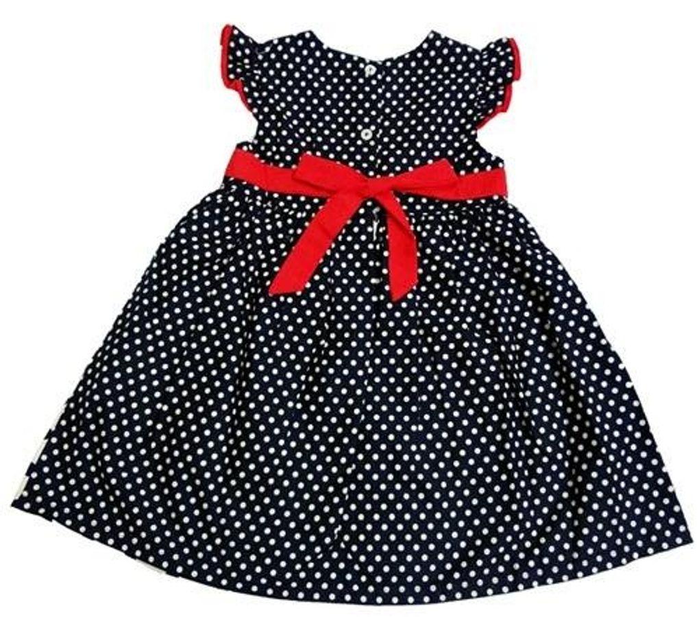 Đầm Xòe Nơ Eo Siêu Xinh Cho Bé Gái Từ 4 Đến 8 Tuổi