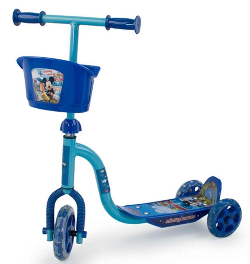 Xe Trượt Scooter 3 Bánh Chuột Mickey Có Giỏ