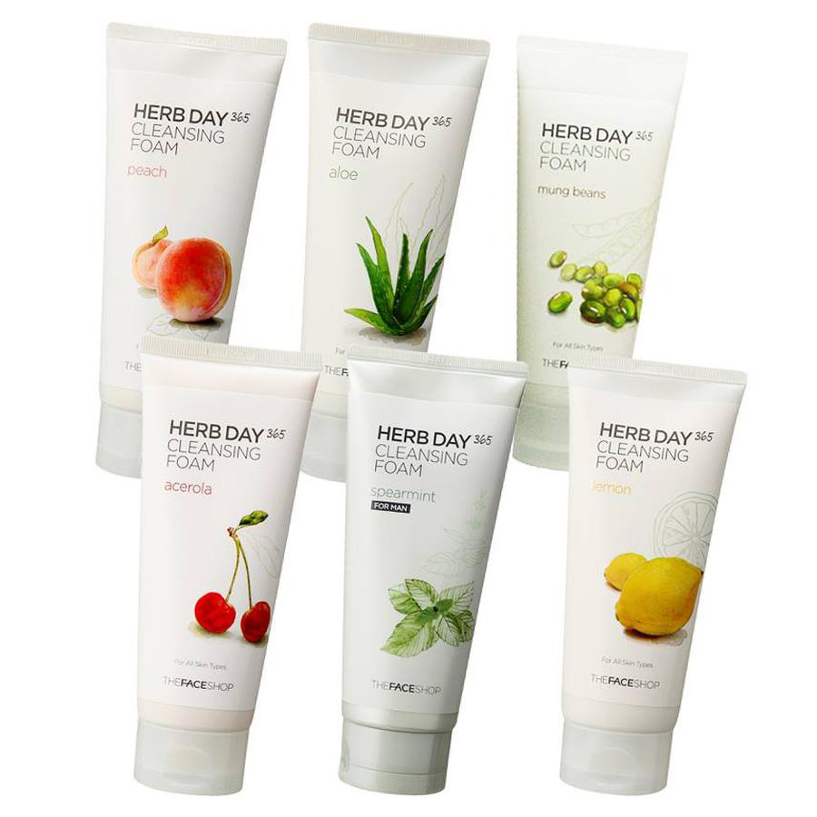 Sữa Rửa Mặt The Face Shop Herb Day 365 Cleansing Foam