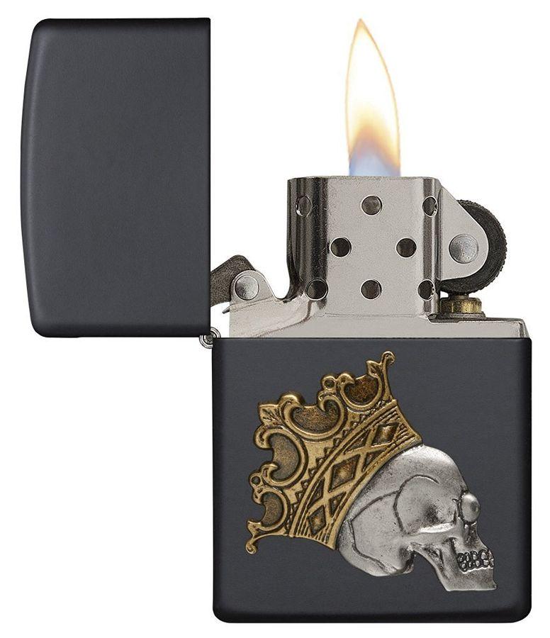 Bật Lửa Zippo Black Matte Emblem 29100 Chính Hãng Mỹ